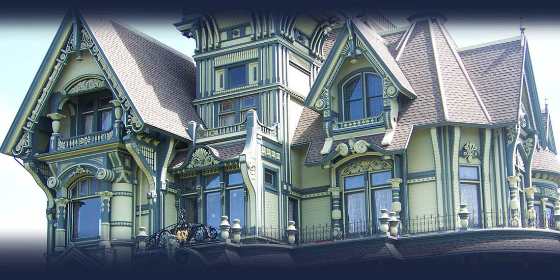 The historic Carson Mansion in Eureka, California