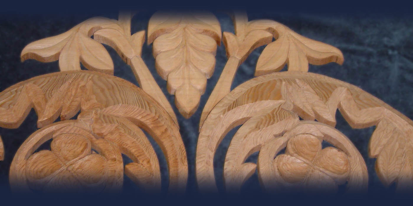 Hand carved gable decoration by Blue Ox