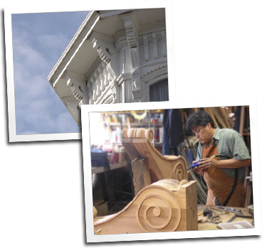 Custom corbels by Blue Ox Millworks
