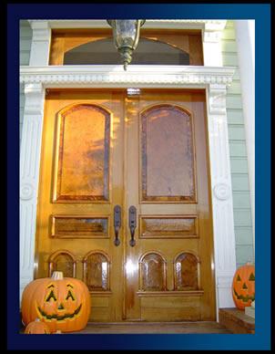 Unique Front Doors on Hand Painted Flower   Ref 075  Victorian 9 Pane Glazed Door