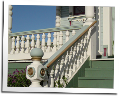 Custom Balustrade for the Ship's Inn in Eureka