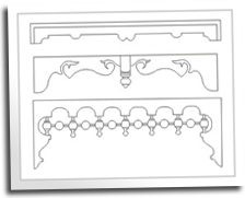 Wood Spandrel Patterns