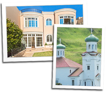 Custom wood windows for a home in San Francisco and for the St. Innocent Russian East Orthodox Church in Unalaska, Alaska