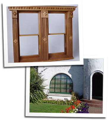 Custom double hung windows and an arched top window