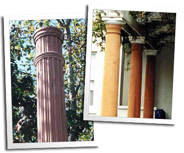 Columns for buildings in Fort Bragg and Eureka