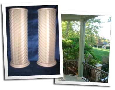 Custom barley twist staved columns and custom gazebo columns