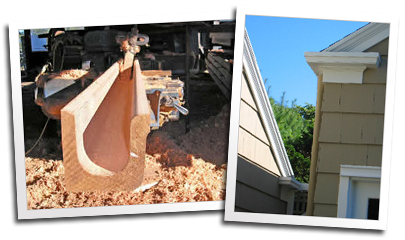 Blue Ox Millworks Custom Redwood Gutters