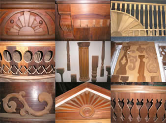 Whether its paper doll balustrades, sunbursts, or fluted columns, we make them all at the Ox.