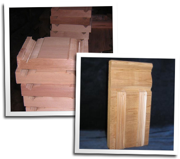 Sample plinth / plynth blocks