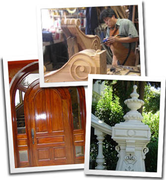 Samples of Custom Victorian Woodworking